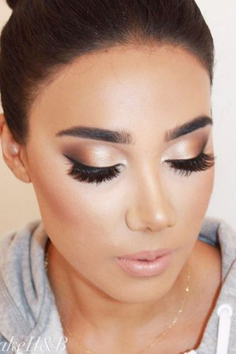 Soft Shimmer Smokey Eyes #nudesmokey