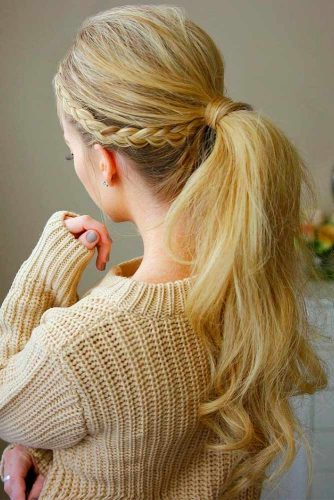 Flirty ponytail
