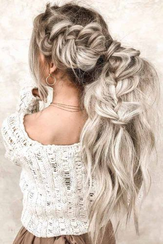 Perky Side Braid #updo #longhair #ponytail #braids