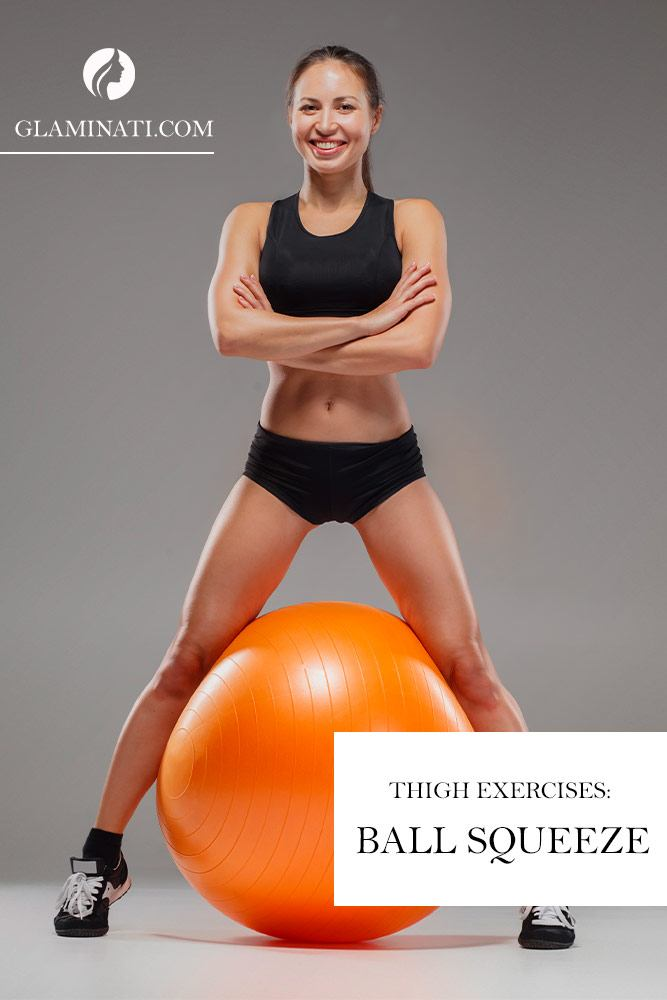 Thigh Exercises: Ball Squeeze #fitball #fitnessexercise