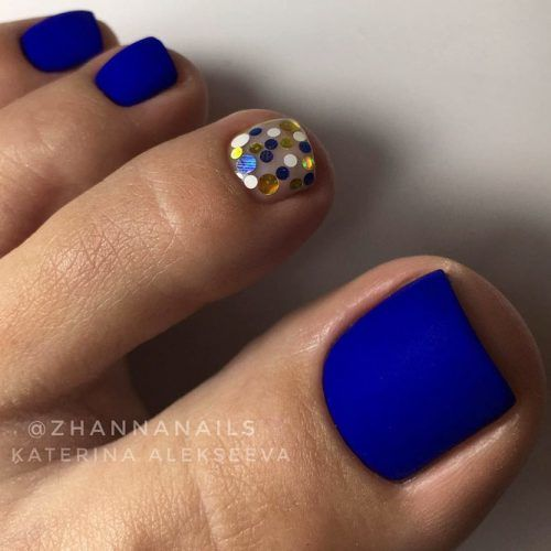 Matte Blue Nails #mattenails #bluenails