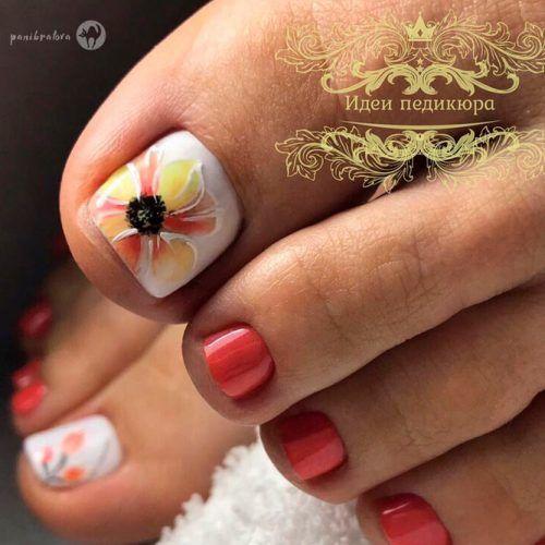 Bright Floral Nail Art #brightnails #flowersnails