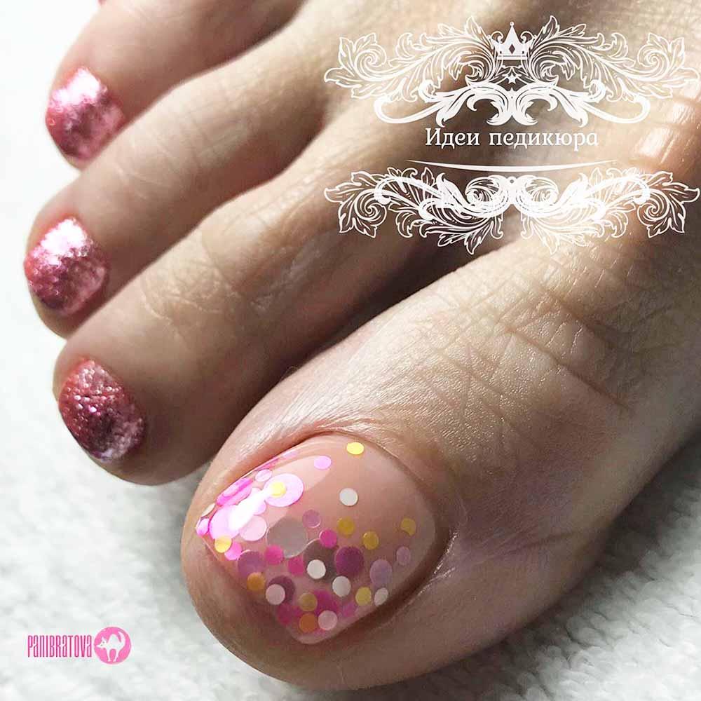 Confetti Glitter Nail Art #confettinails