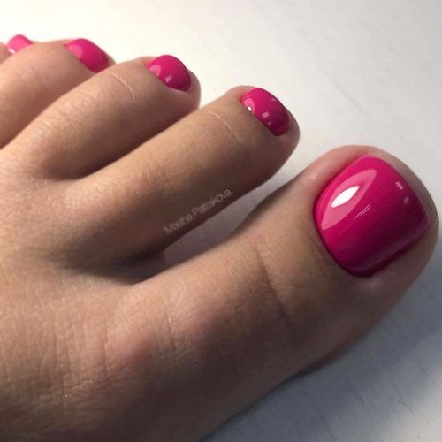 Pure Pink Nail Design #glossynails #pinknails