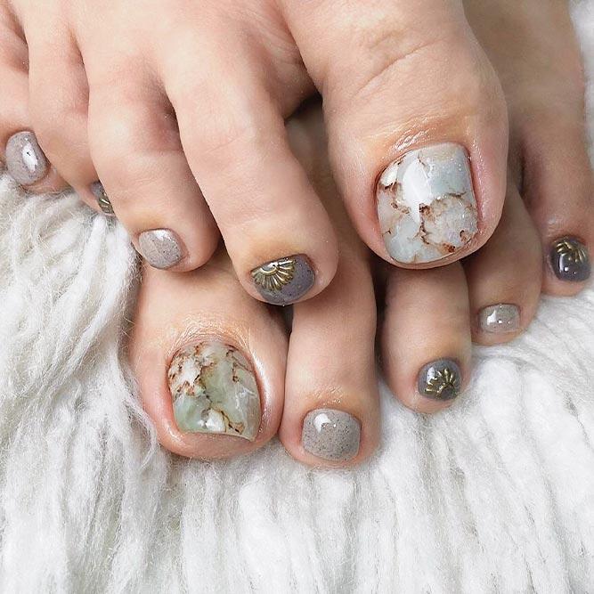 Marble Stones Nail Art #marblenailart #stonesnails