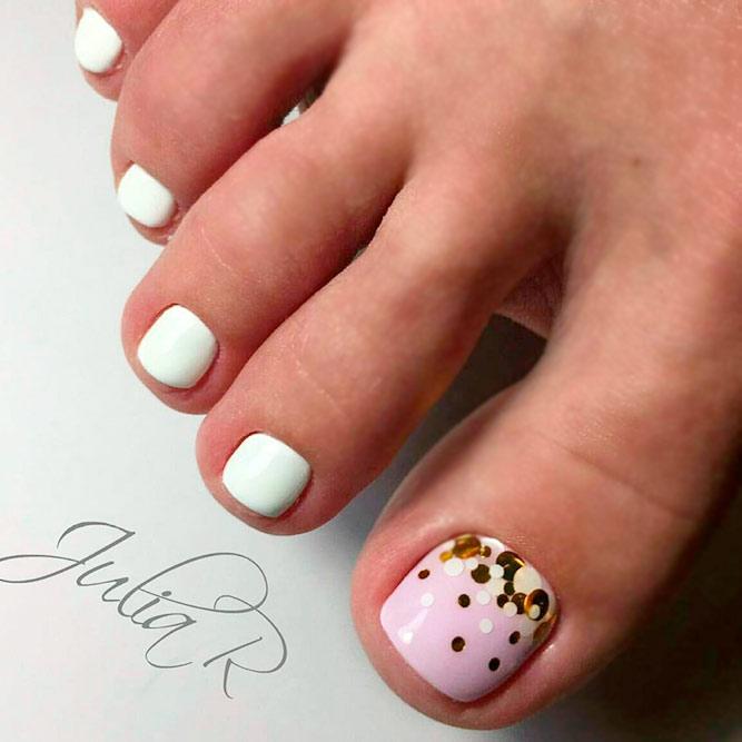 Abstracted Toe Nails Designs #dottingcurenails