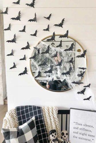 Halloween Bats And Web Decorations #web #bats