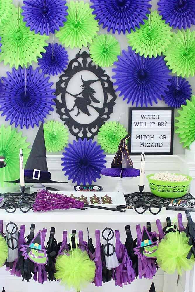 Witch Theme For Halloween Decorations #witchtheme #witchhat