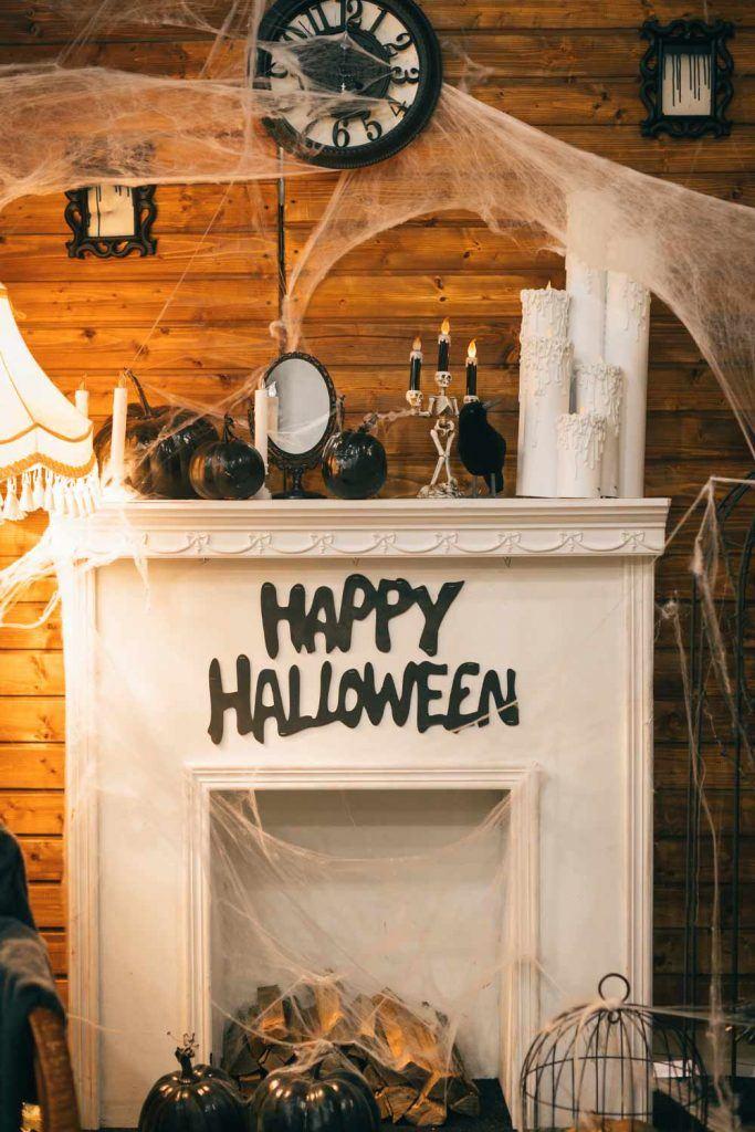 Halloween Fireplace Decor