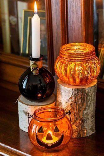 Mason Jars Halloween Decorations #masonjars
