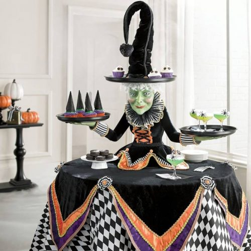 Witch Treats Holder For Table Decor #witch #treatsholder
