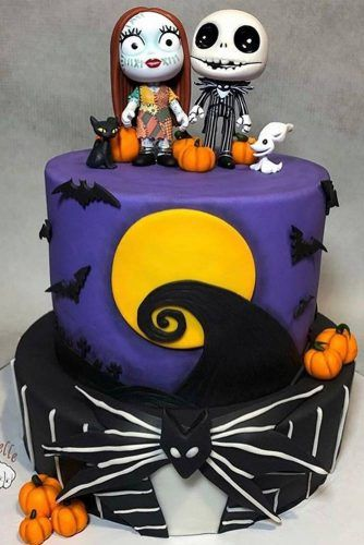 Zombies Cake Idea #bats #pumpkins #cake