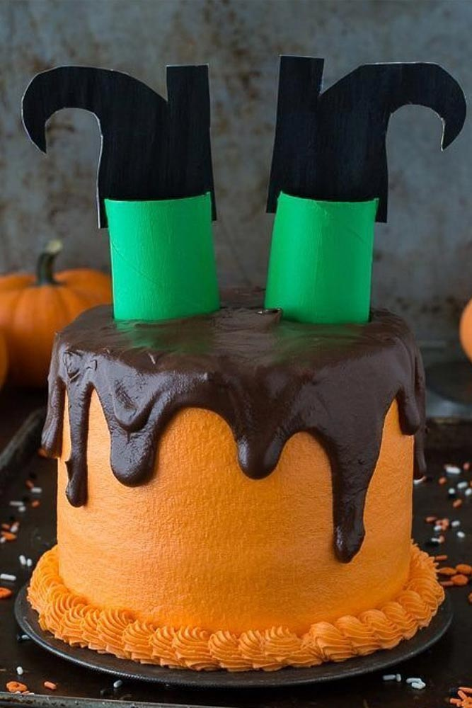 Witch Cake Idea #cake #witchyshoes