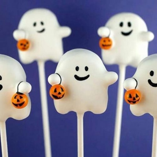 Ghost Lollipop Idea #halloweenlollipop #ghostlollipop