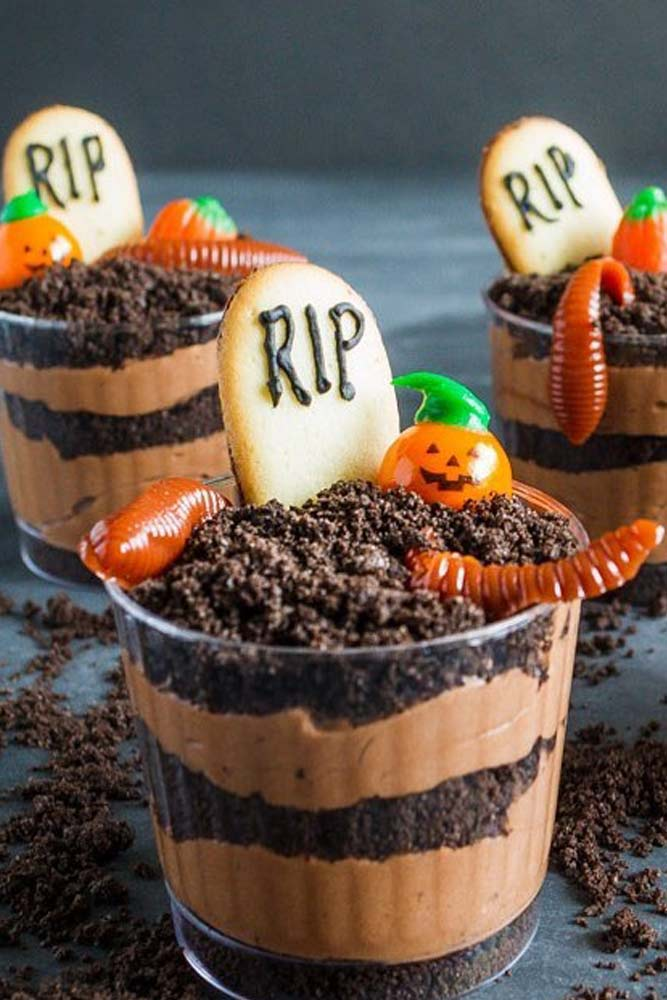 Halloween Pudding Cookie Cups