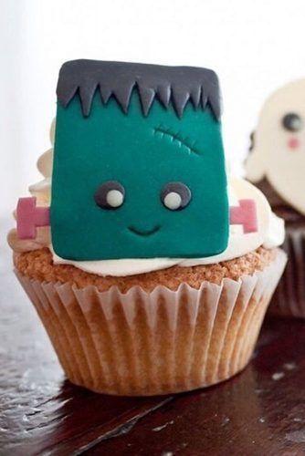 Frankenstein Cupcake Idea #frankenstein #monster