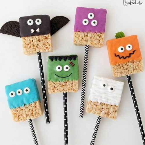 Rice Krispies Halloween Treats #ricetreat #monsters