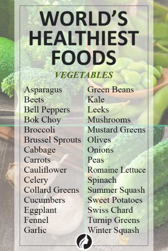 List of the World's Healthiest Foods for Even the Pickiest Eater