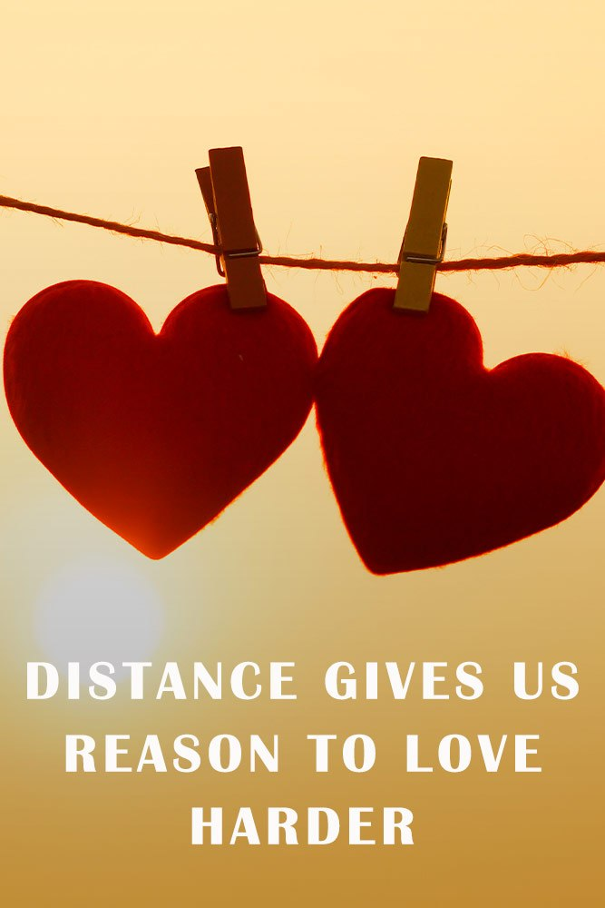 Distance gives us reason to love harder #hearts #sweetlove