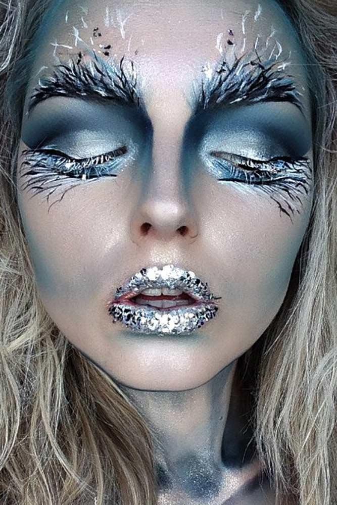 Ice Queen Frozen Makeup