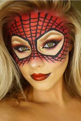 Spider-Man Inspired Halloween Makeup