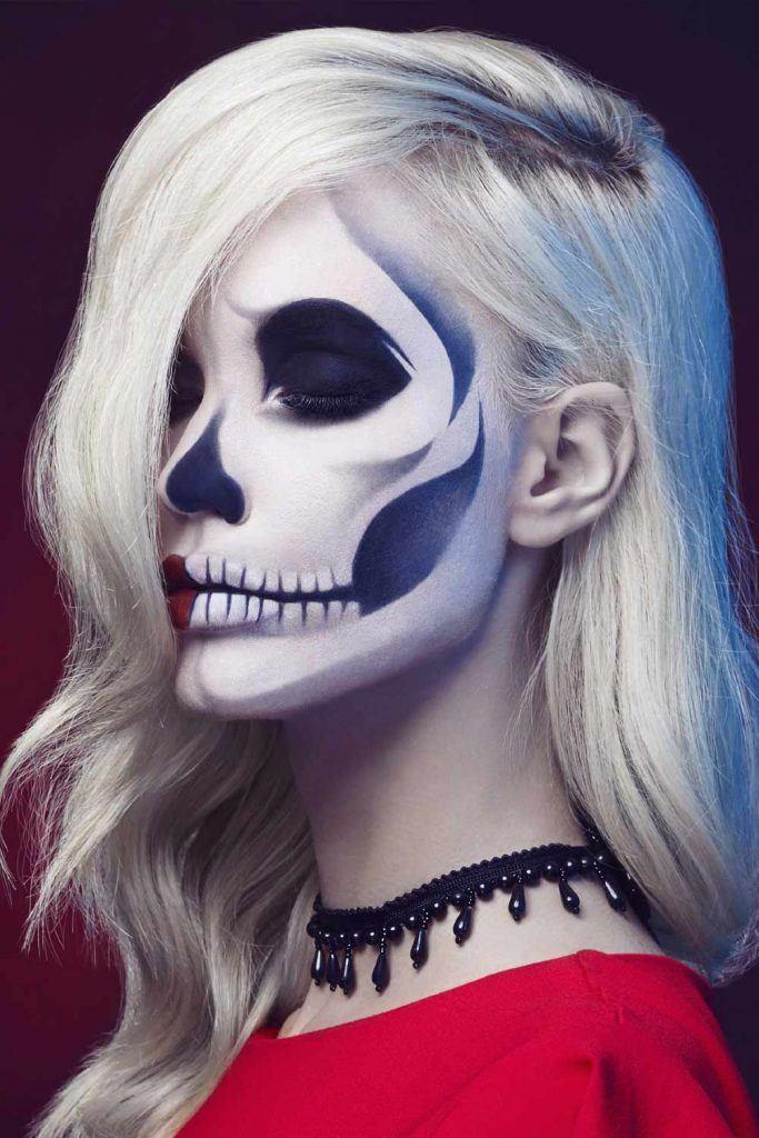 Classy Skeleton Halloween Makeup