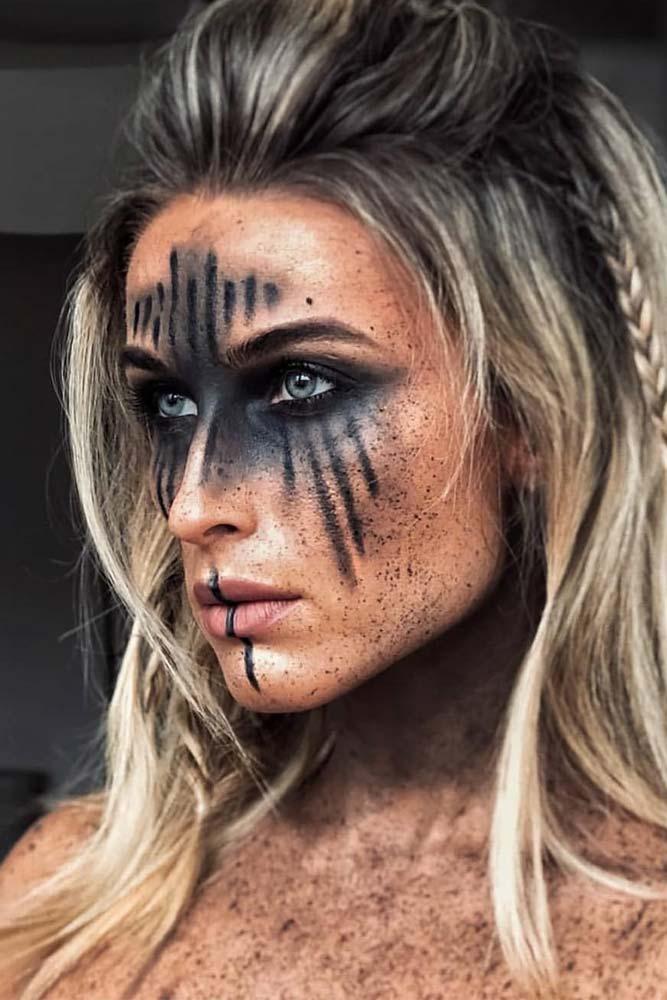 Elven Warrior Halloween Makeup #warriormakeup