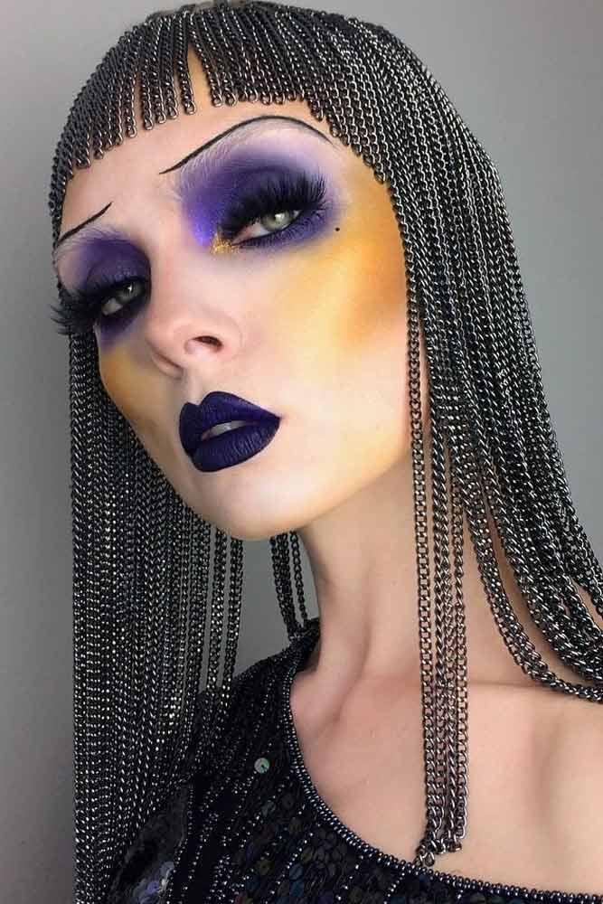 Flapper Girls Halloween Makeup Idea #gatsbyparty #flapper