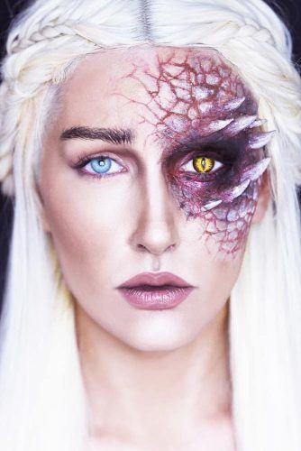 Mother Of Dragons Makeup Idea #fantasymakeup #gamethrones