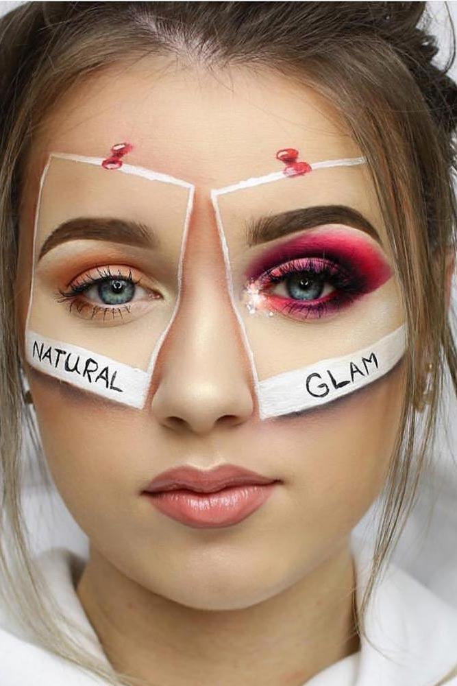 Social Media Halloween Makeup Idea #instagrammakeup #socialmediamakeup
