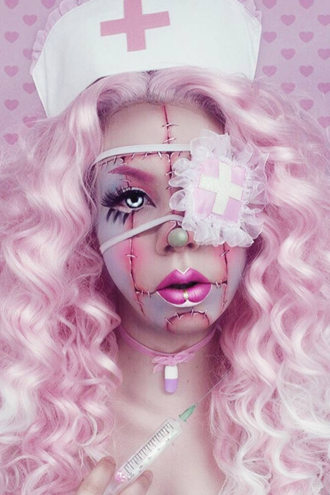 Twisted Nurse Makeup Idea #nurserymakeup