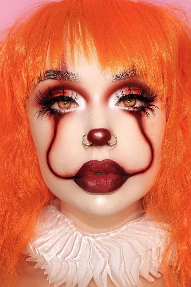 Pretty Clown Halloween Makeup #clownmakeup #prettyclownmakeup