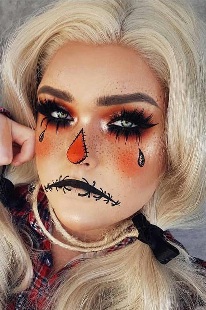 Scarecrow Makeup Idea #scarecrow