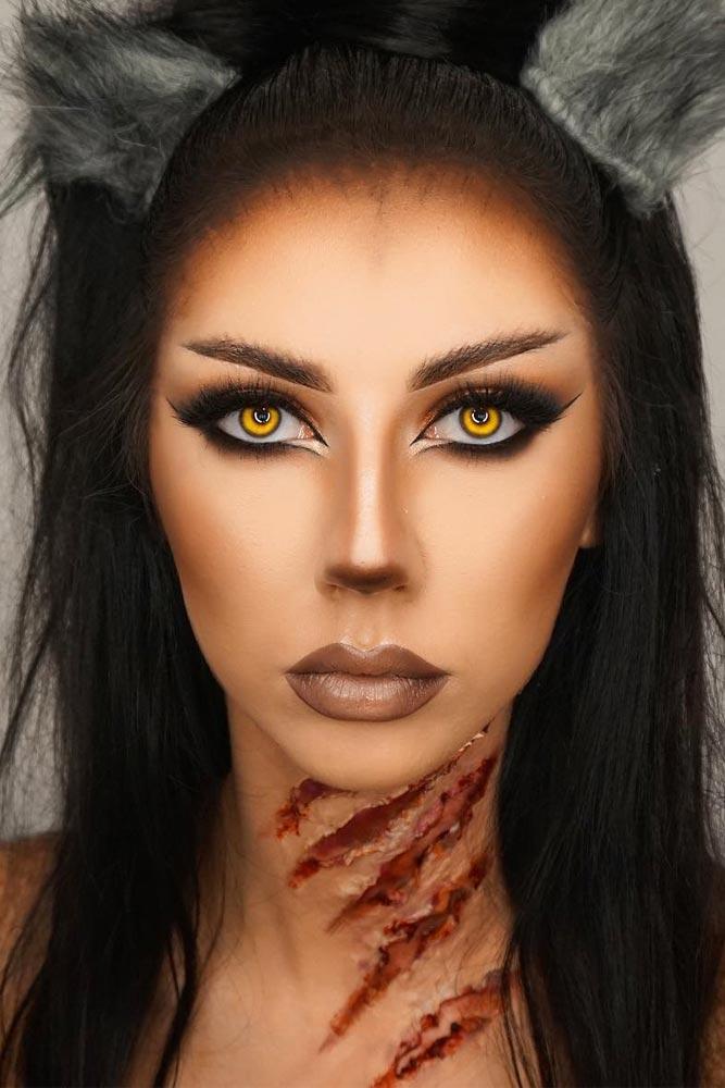 Werewolf Smokey Eye Makeup Idea