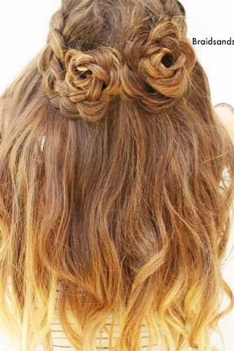 21 Glamorous Rose Hairstyles for Long Hair - Ideas from Daily to Special Occasion