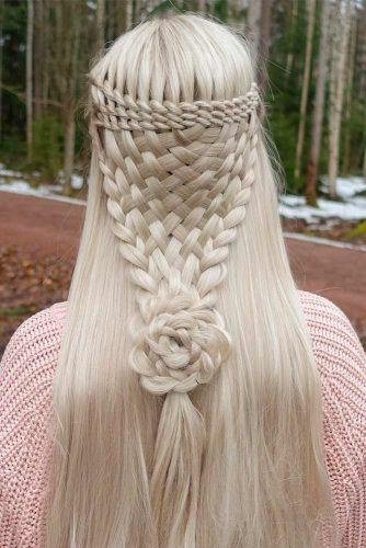 Braided Rose Half-Up Half-Down #blondehair #braidedhair