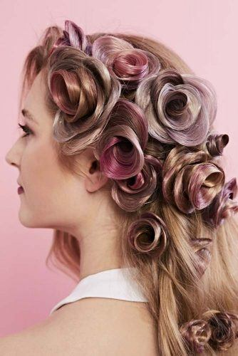 Textured Rose Hairstyle #texturedhair #longhairstyles
