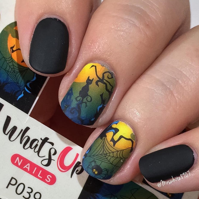 Simple Nail Art with Water Slide Decals