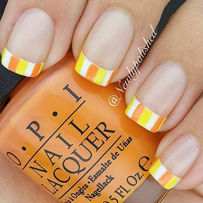 Candy Corn French Mani #frenchnails #cutenails