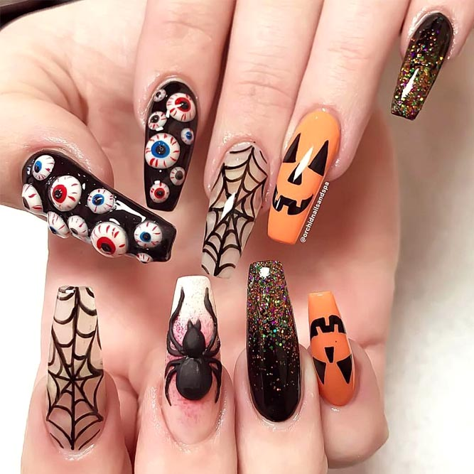 New Scary Halloween Nail Designs picture 1