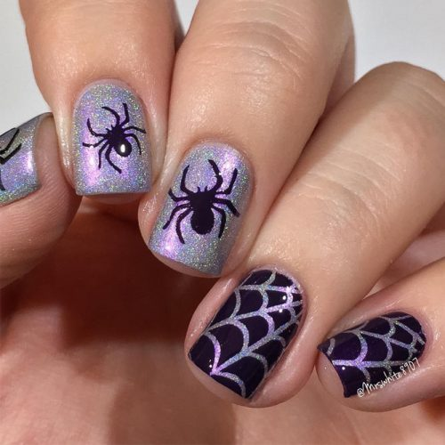Webs and Spiders Creative Nails