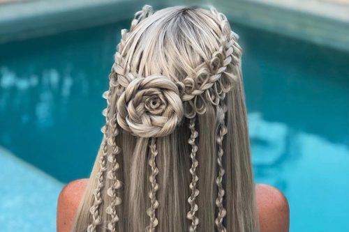Pretty Rose Hairstyles For Long Hair - Ideas From Daily To Special Occasion