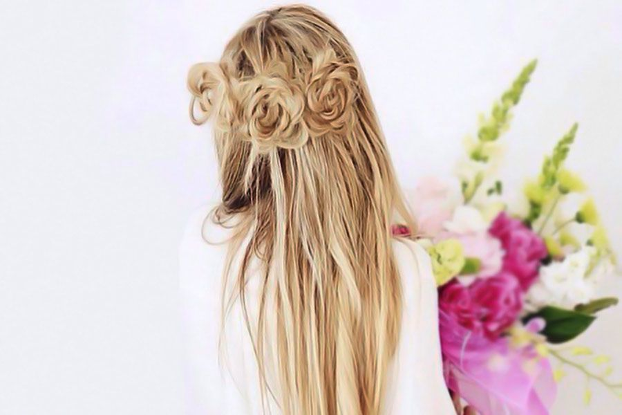 Glamorous Rose Hairstyles for Long Hair - Ideas from Daily to Special Occasion