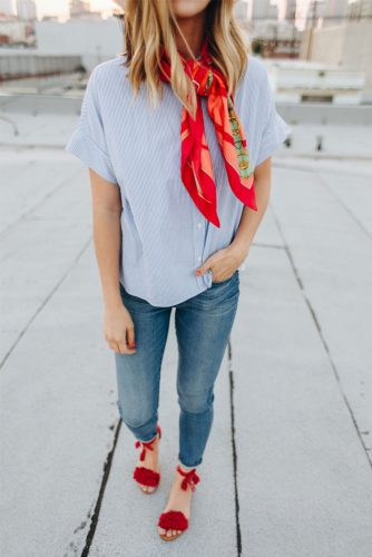 How to Wear a Scarf - Adding Color picture 3