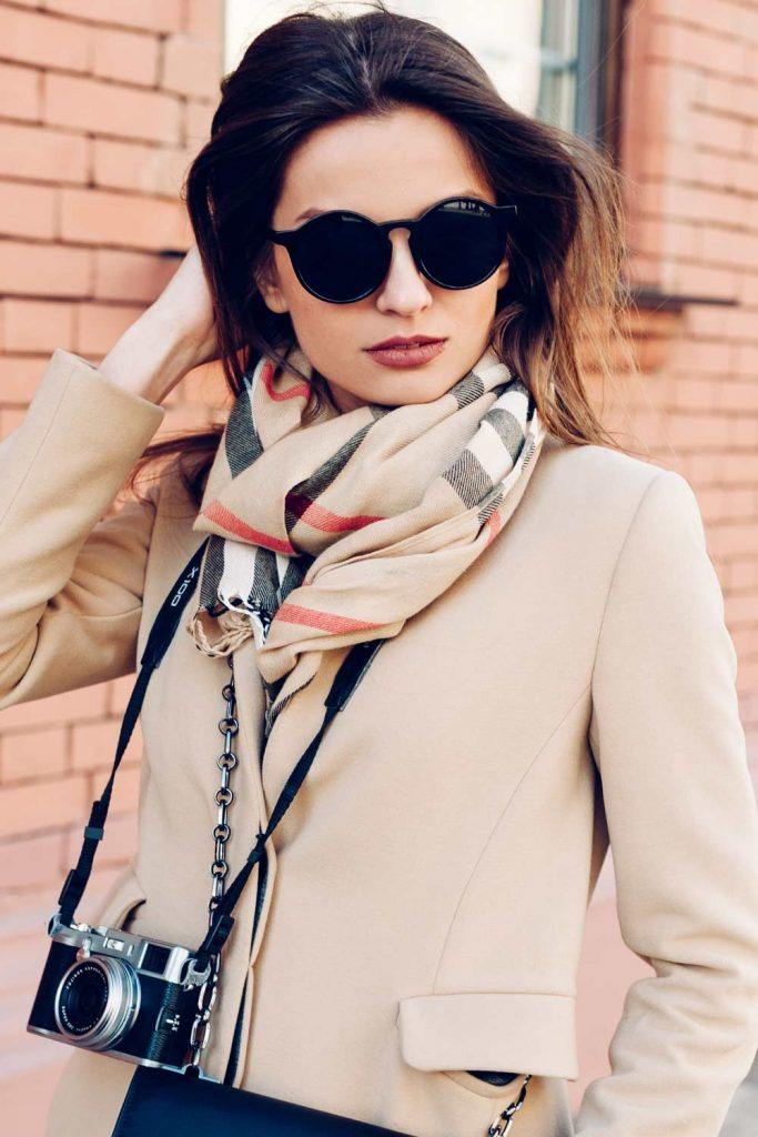 Classy Coat with Scarf
