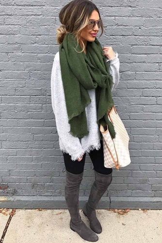 Newest Outfit Ideas with Scarves picture 2
