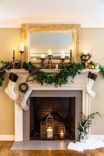 Most Beautiful Christmas Fireplace Decorations