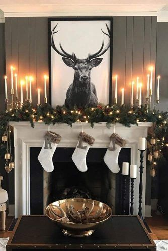 Modern Fireplace Decorations With Candles #socks