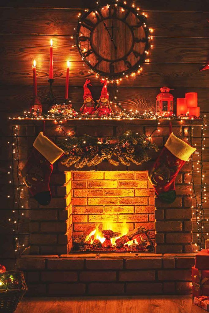 Romantic Christmas Fireplace Decor