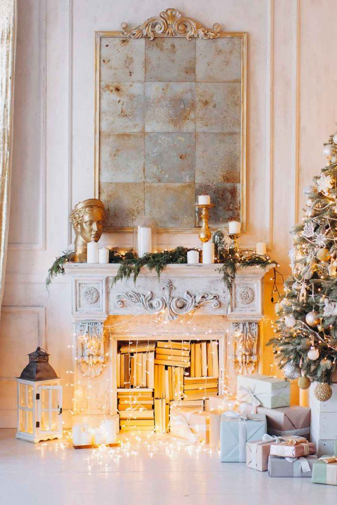 Vintage Fireplace Decor